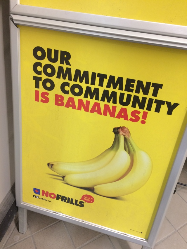no frills bananas